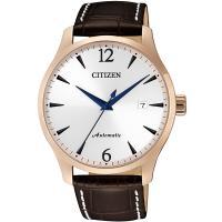 CITIZEN星辰 限量經典機械錶(銀x金框/40mm) NJ0113-10A