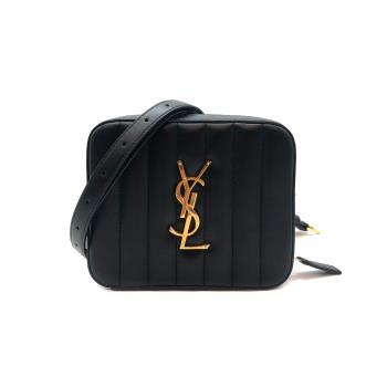 【YSL】新款  vicky 绗缝羊皮腰包 (557574-黑)
