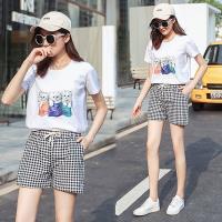 韓國K.W. (預購) 韓時尚休閒格紋短褲