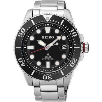 SEIKO精工 Prospex 太陽能黑水鬼 200米潛水錶-黑/43mm/V157-0BT0D/SNE437J1