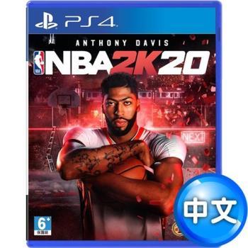 PS4 NBA 2K20–中英文合版+無線震動手把-極致黑 (CUH- ZCT2G)