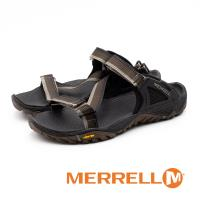 MERRELL ALL OUT BLAZE WEB 織帶拖鞋 男鞋 - 咖