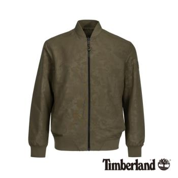 Timberland男款軍綠色燙印兩面穿飛行夾克A1XWVA58
