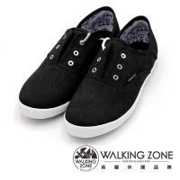 WALKING ZONE果漾YOUNG純棉帆布鞋休閒鞋 女鞋-黑(另有白/粉/藍/淺藍)