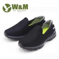 W&M MODARE 素色 透氣舒適彈性 男鞋-黑(另有藍)