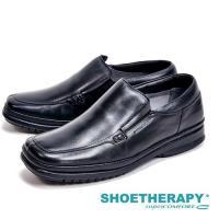 SAPATOTERAPIA 巴西製簡約方頭休閒男皮鞋-黑