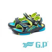 G.P 兒童磁扣式涼鞋 防水止滑 童鞋 - 綠 (另有黑桃、寶藍)