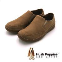 Hush Puppies 質感防滑休閒 男鞋-棕(另有咖)