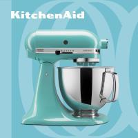 【KitchenAid】桌上型攪拌機(抬頭型)5Q(4.8L)蘇打藍 3KSM150PSTIC