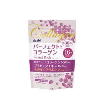 【日本Asahi】朝日膠原蛋白粉 大豆萃取物(含大豆異黃酮) 蜂王乳- 粉金色版(228g/包)