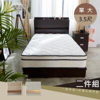 【藤原傢俬】兩件式房間組(床頭+3分床底)單人加大