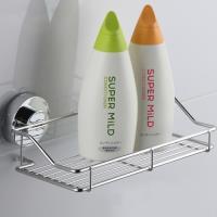 幸福揚邑 旋鎖式吸盤不鏽鋼廚房浴室方型收納置物架