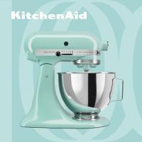 【KitchenAid】桌上型攪拌機(抬頭型)5Q(4.8L)湖水藍 3KSM150PSTAQ