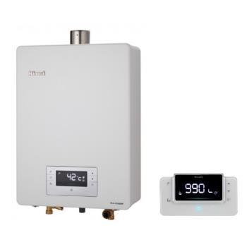 (全省安裝)林內16公升數位恆溫強制排氣贈BC-30無線遙控熱水器RUA-C1630WF
