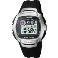 CASIO兩地時間商務錶(銀黑)W-210-1A