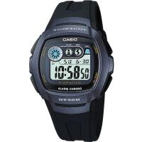 CASIO兩地時間商務錶(藍黑)W-210-1B