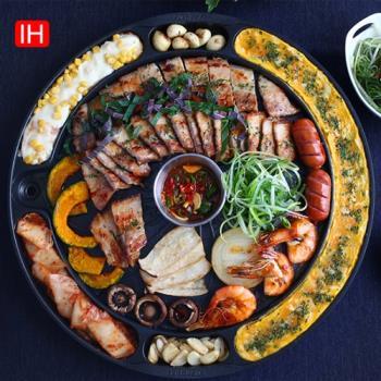 韓國 QUEENSENSE 專業達人Gossamer 41cm IH版排油烤盤(電磁爐、IH爐型專用)