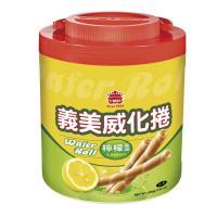 義美檸檬風味威化卷 500g 桶