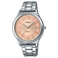 【CASIO】婉約迷人繁星點綴粉色不鏽鋼錶(LTP-E141D-9A)