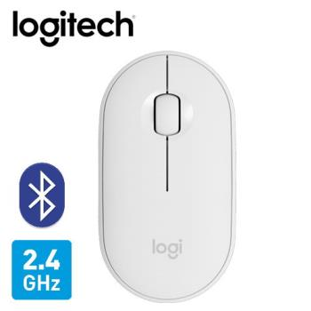 【Logitech 羅技】M350 鵝卵石無線滑鼠-珍珠白 【贈飲料杯套】