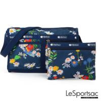 LeSportsac - Standard雙口袋斜背包-附化妝包(小雛菊)