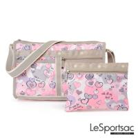LeSportsac - Standard雙口袋斜背包-附化妝包(夏日之戀)