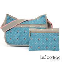 LeSportsac - Standard側背水餃包/流浪包-附化妝包 (火烈鳥/綠)