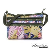 LeSportsac - Standard橫式三層拉鍊斜背包(棕櫚海灘)