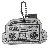 COACH 66748 Keith Haring 聯名音響吊飾鑰匙圈.銀