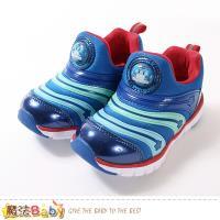魔法Baby 男童鞋 POLI波力授權正版閃燈慢跑運動鞋 sa91266