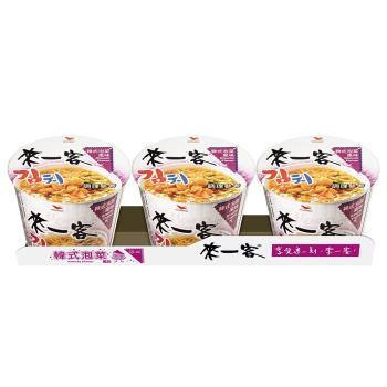 來一客 韓式泡菜風味杯3入/組