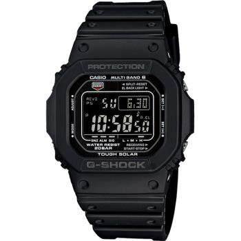 CASIO 卡西歐 G-SHOCK 太陽能電波手錶-黑 GW-M5610-1B