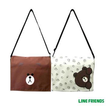 LINE FRIENDS 熊大MIT 側背包 中 台灣製造