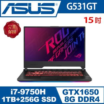 ASUS華碩 G531GT-G-0031C9750H 電競筆電 15吋/i7-9750H/8G/1T 8G SSHD+PCIe 256G SSD/GTX1650/W10