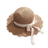 【米蘭精品】草帽遮陽帽-大簷純色蕾絲綁帶女帽子73vq5