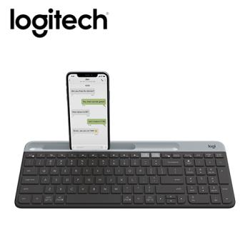 【Logitech 羅技】K580 超薄跨平台藍牙鍵盤 石墨灰 【贈收納購物袋】