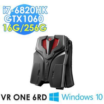 msi微星 VR ONE 6RD-011TW背包PC(i7-6820HK /16G/256G SSD/GTX1060-6G/WIN10)