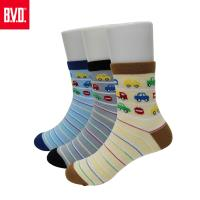 【BVD】汽車條紋1/2童襪4雙組(B325.B326童襪)