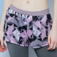 【EASY SHOP】RUN極限 運動型短褲(印花灰)