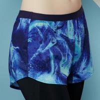 【EASY SHOP】RUN極限 運動型短褲(印花藍)
