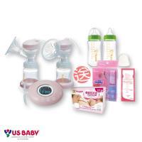優生觸控式輕量雙邊電動吸乳器(贈-玻璃奶瓶2大+母乳冷凍袋+防溢母乳墊)