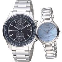 CITIZEN 星辰 璀璨經典對錶(CA7030-97E+EM0550-83N)