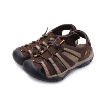 ARRIBA 織帶護趾束繩涼鞋 咖啡 62-477 男鞋 鞋全家福(8MOUT)