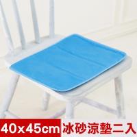 米夢家居-嚴選長效型降6度冰砂冰涼坐墊(40x45cm)坐墊.大枕頭用(二入)
