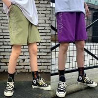 韓國K.W. (預購) 爆推百搭綁帶嘻哈寬鬆闊腿運動短褲