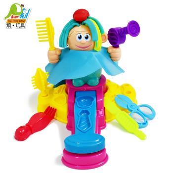 Playful Toys 頑玩具 理髮師彩泥 6818(抖音玩具 彩泥玩具 理髮師 DIY玩具 創意剪髮 黏土 頑玩具)