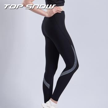美國TOP SNOW向上支撐護膝體適能壓力褲2入組(贈網紗拼接裙)