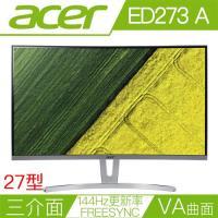 [福利品] ACER宏碁 ED273 A 27型VA曲面144Hz更新率FreeSync電競液晶螢幕