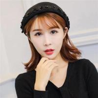 【米蘭精品】貝雷帽毛呢帽黑色小花裝飾圓頂女帽子73vt36