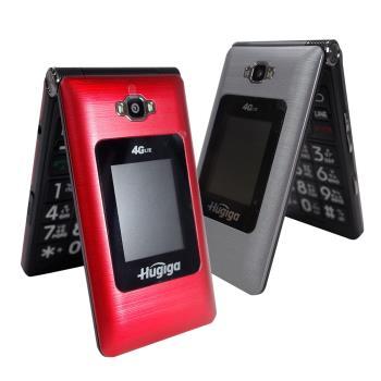 HUGIGA Q7 雙4G摺疊機全觸控手機 老人機 大字體/大按鍵/大螢幕 (聯強全省保固)